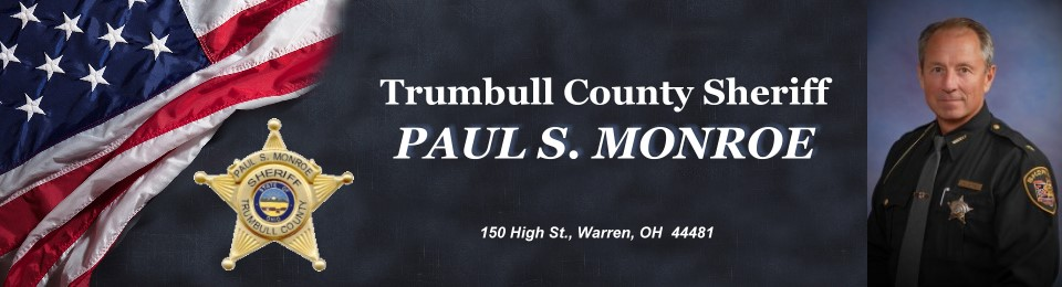 Heading for the Trumbull County Sheriff's Office Paul Monroe.